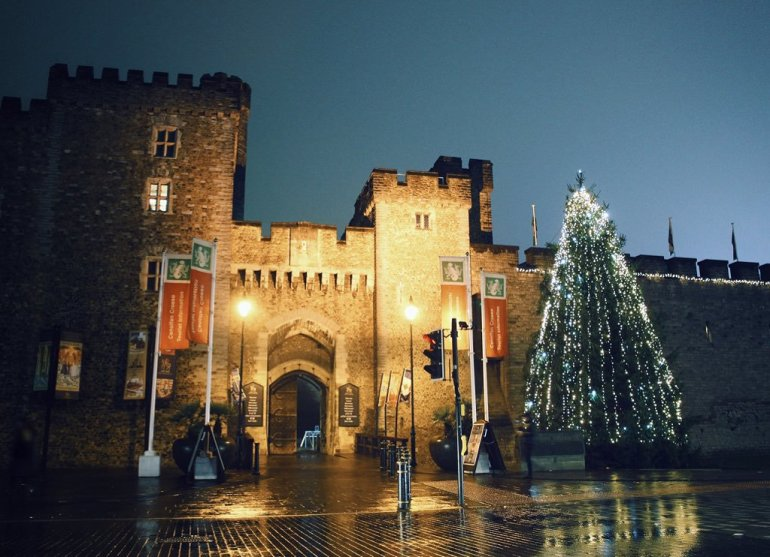 Christmas Tree Cardiff Castle