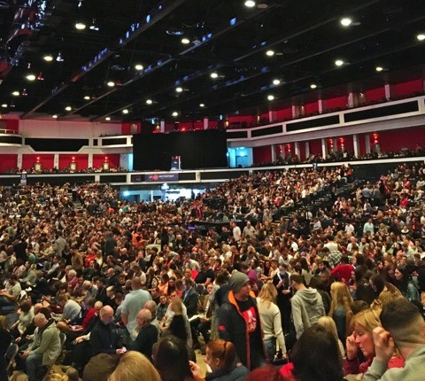Jack Whitehall at the Motorpoint Arena in Cardiff - Crowd