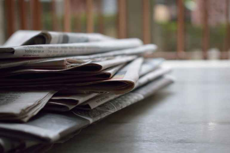 Newspapers and press releases