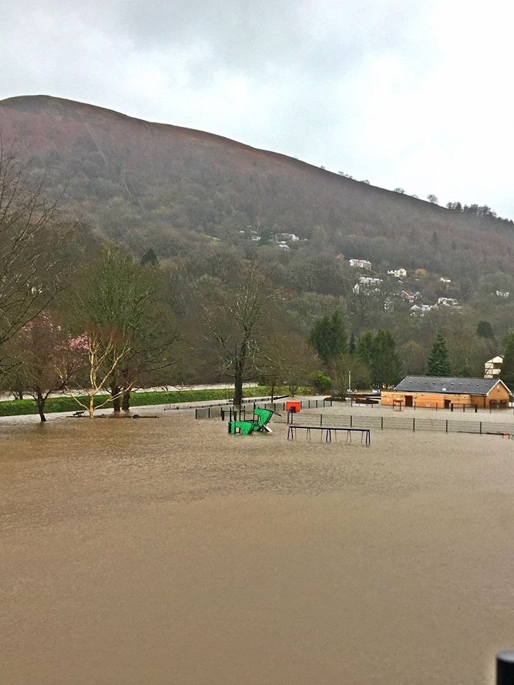 Children's play park submerged
