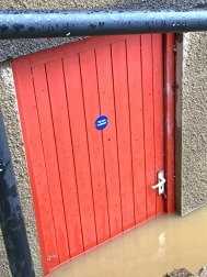 Water up to the door handle