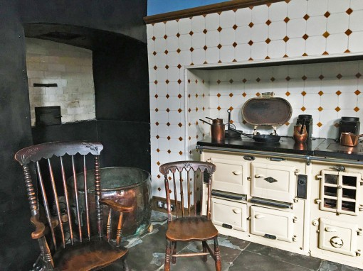 The kitchen at Tredegar House