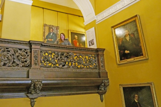 Pretending I'm the lady of the manor in Tredegar House