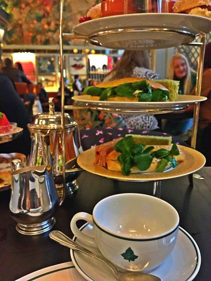The Ivy Cardiff Afternoon Tea stand