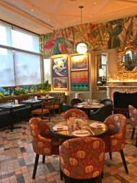 The upstairs dining room at The Ivy Cardiff